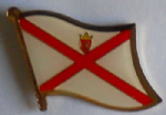 Jersey Flag Enamel Pin Badge